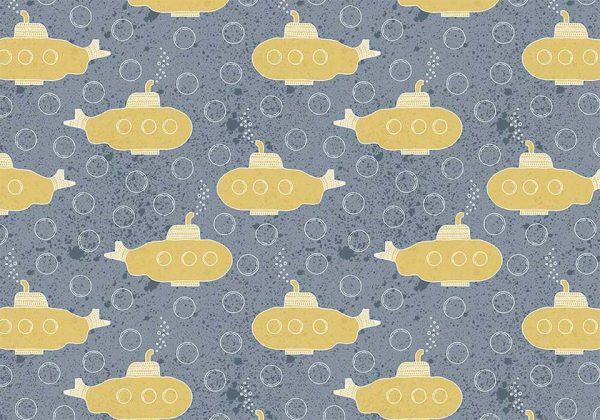 yellow submarine - tapeta dziecięca - artgroup.com.pl