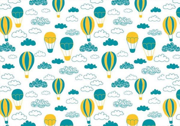 Ballooning art - tapeta dziecięca - artgroup.com.pl