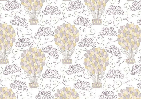 lovely-ballons - tapeta dziecięca - artgroup.com.pl