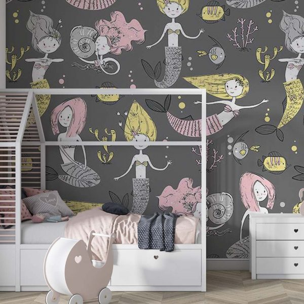 Lovely sirens - tapeta dziecięca - artgroup.com.pl