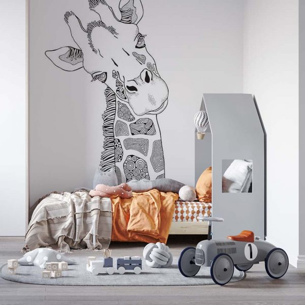 Magnificent-giraff - tapeta dziecięca - artgroup.com.pl