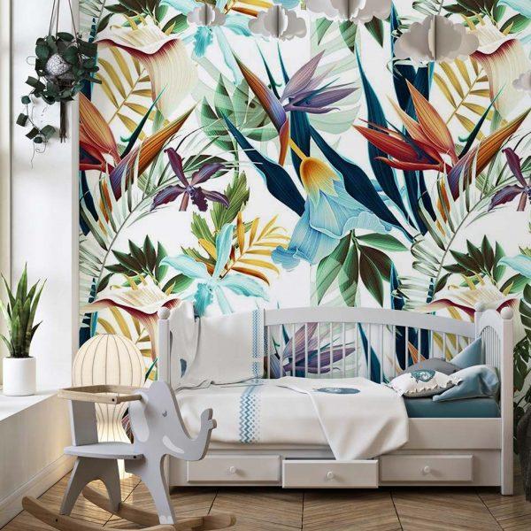 Rainbow tropicana - tapeta dziecięca - artgroup.com.pl