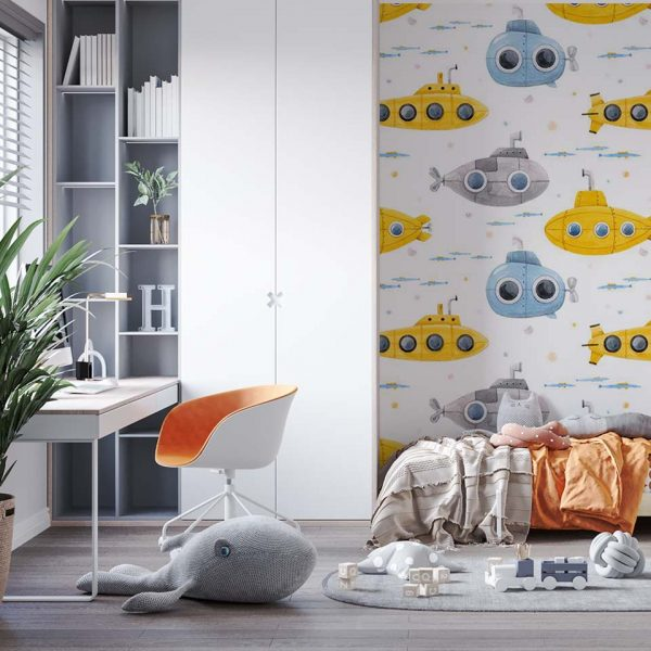 Submarine design - tapeta dziecięca - artgroup.com.pl