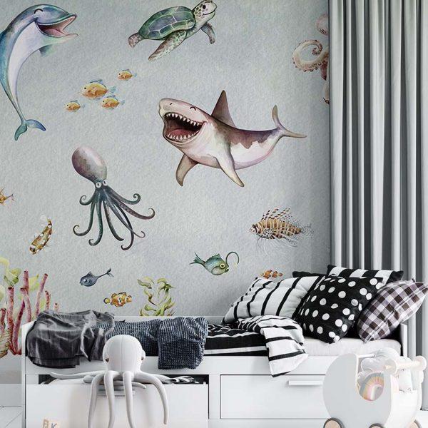 Underwater art - tapeta dziecięca - artgroup.com.pl
