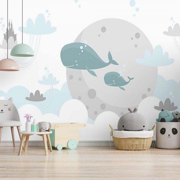 Underwater family - tapeta dziecięca - artgroup.com.pl