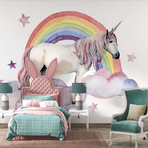 Unicorn fantasy - tapeta dziecięca - artgroup.com.pl