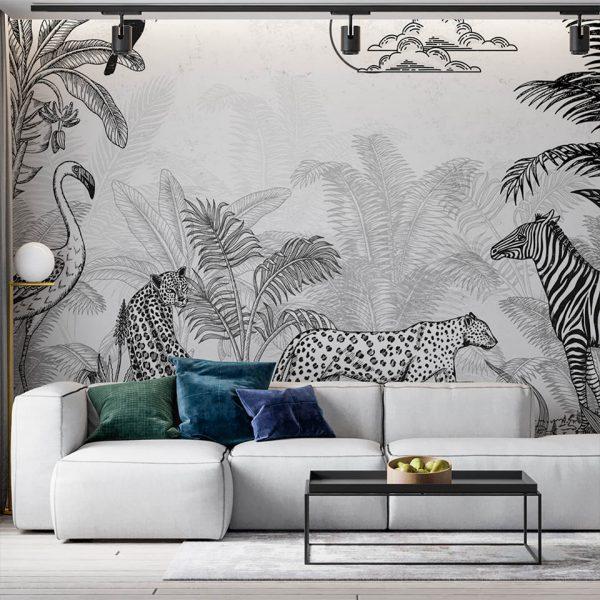 jungle family - fototapeta - artgroup.com.pl