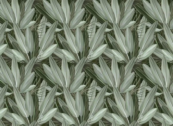 leafy wall - fototapeta - artgroup.com.pl