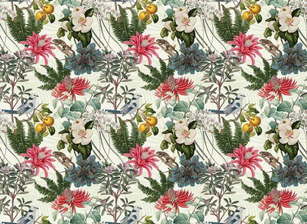 lovely floral story - fototapeta - artgroup.com.pl