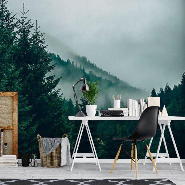 Misty Woods - fototapeta - artgroup.com.pl