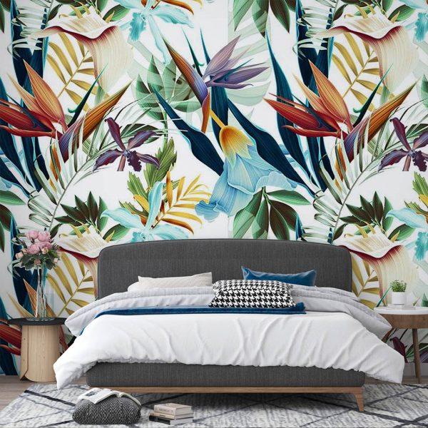 rainbow tropicana - fototapeta - artgroup.com.pl