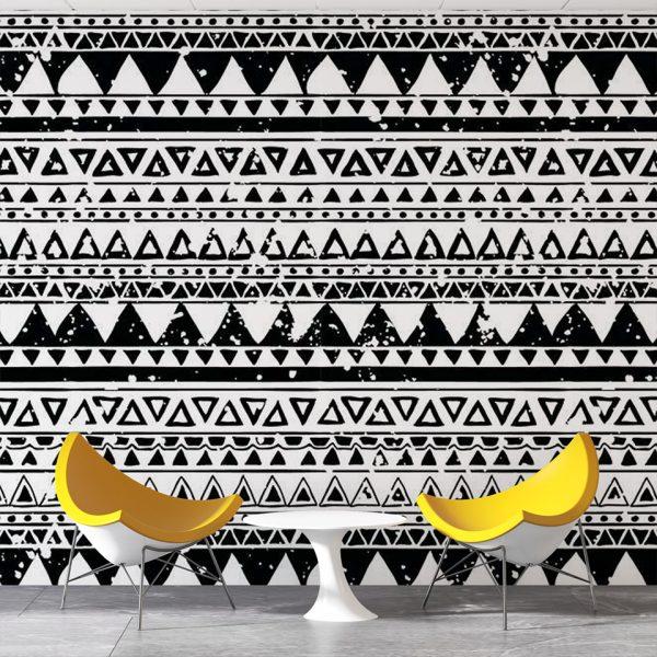 Etnic Triangle - Tapeta designerska - artgroup.com.pl