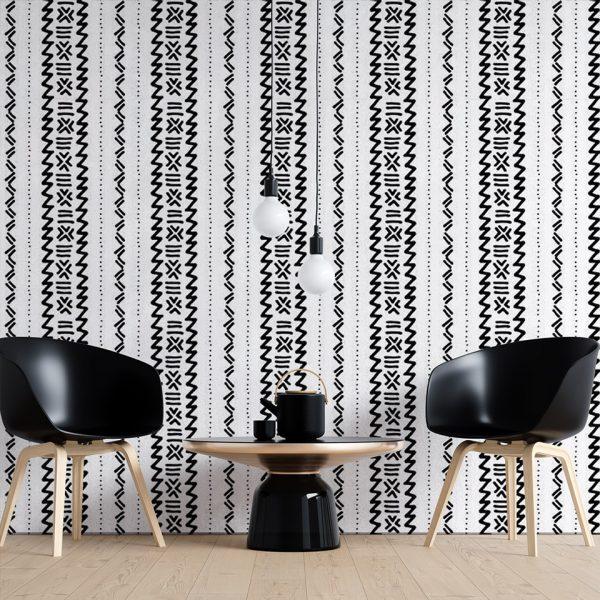 Etnic Wavesy - Tapeta designerska - artgroup.com.pl