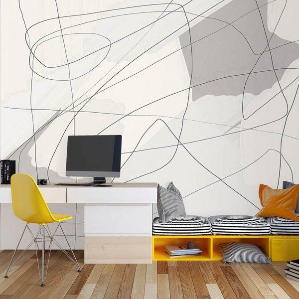 Soft Abstract Lines - Tapeta designerska - artgroup.com.pl