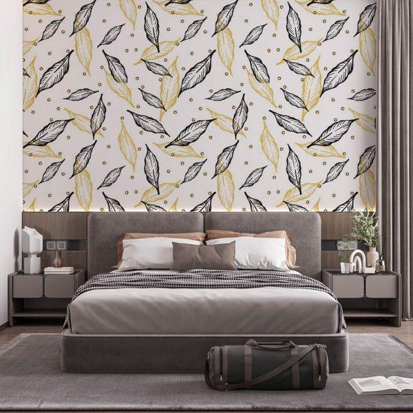 Yellow Leaves - Tapeta designerska - artgroup.com.pl